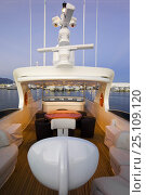Купить «Fipa Italiana Yachts 24-metre luxury Cantieri Maiora-style superyacht. Viareggio, Tuscany, Italy. ^^^She can accommodate eight guests and three crew.», фото № 25109120, снято 18 июня 2019 г. (c) Nature Picture Library / Фотобанк Лори