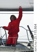 "Купить «Marie Tabarly, daughter of French sailing legend Eric Tabarly, sailing ""Pen Duick VI"" to Plymouth to watch the start of the Transat 2004, celebrating 40...», фото № 25115864, снято 17 августа 2018 г. (c) Nature Picture Library / Фотобанк Лори"