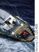 "Купить «123ft sloop superyacht ""Helios"" racing in Antigua, Caribbean», фото № 25120408, снято 18 августа 2018 г. (c) Nature Picture Library / Фотобанк Лори"