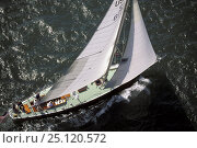 "Купить «Aerial of 12-metre ""Easterner"" sailing off Newport, Rhode Island, USA», фото № 25120572, снято 16 июля 2018 г. (c) Nature Picture Library / Фотобанк Лори"