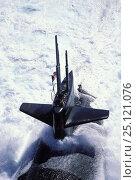Купить «A US nuclear submarine surfacing off Hawaii, Pacific Islands 1994», фото № 25121076, снято 16 октября 2019 г. (c) Nature Picture Library / Фотобанк Лори