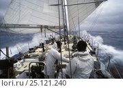 "Купить «Simon le Bon's maxi yacht ""Drum"" in the Southern Ocean during the Whitbread Round the World Race, 1985.», фото № 25121240, снято 16 августа 2018 г. (c) Nature Picture Library / Фотобанк Лори"
