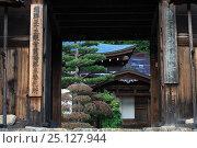 Купить «Takayama City, entrance of Higashiyama Hakusan Sanctuary Temple, UNESCO World Heritage Site, Honshu, Japan, October 2008.», фото № 25127944, снято 17 июля 2019 г. (c) Nature Picture Library / Фотобанк Лори