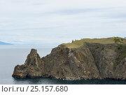 Купить «Cape Hoboy cliffs, Olkhon island, Lake Baikal, Russia, June 2014.», фото № 25157680, снято 20 января 2018 г. (c) Nature Picture Library / Фотобанк Лори