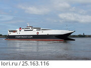 Купить «Isle of Man ferry 'Manannan' leaving Liverpool. Merseyside, England, UK. June 2014.», фото № 25163116, снято 6 июля 2020 г. (c) Nature Picture Library / Фотобанк Лори