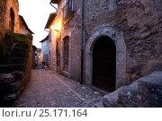 Купить «Narrow alley between stone houses, Santo Stefano di Sessanio, Abruzzo, Italy, May 2006.», фото № 25171164, снято 16 августа 2018 г. (c) Nature Picture Library / Фотобанк Лори