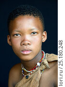 Купить «Portrait of young Naro San woman, Kalahari, Ghanzi region, Botswana, Africa. October 2014.», фото № 25180248, снято 22 мая 2019 г. (c) Nature Picture Library / Фотобанк Лори