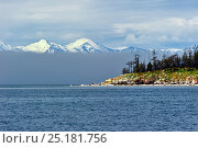 Купить «Ushkanyi islands, breeding grounds of the Baikal seal (Pusa sibirica). Baikals ridge visible beyond. Lake Baikal, Russia, May 2012.», фото № 25181756, снято 24 апреля 2019 г. (c) Nature Picture Library / Фотобанк Лори
