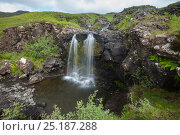 Waterfall, Isle of Mull, Scotland, UK. June 2013. Стоковое фото, фотограф Alex Hyde / Nature Picture Library / Фотобанк Лори
