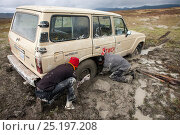 Купить «Four by four stuck in muddy bog, Bale Mountains National Park, Ethiopia, November 2011.», фото № 25197208, снято 17 августа 2018 г. (c) Nature Picture Library / Фотобанк Лори