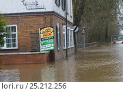 Купить «Flooded home which has recently been sold, during February 2014 flooding, Upton upon Severn, Worcestershire, England, UK, 9th February 2014.», фото № 25212256, снято 21 июля 2018 г. (c) Nature Picture Library / Фотобанк Лори