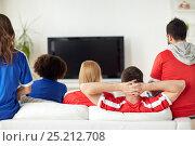 Купить «friends or football fans watching tv at home», фото № 25212708, снято 14 августа 2016 г. (c) Syda Productions / Фотобанк Лори