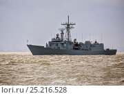 Купить «ORP General Tadeusz Kosciuszko arrives in Liverpool to be present in Liverpool for the Battle of the Atlantic 70th Anniversary commemoration (BOA 70) Liverpool...», фото № 25216528, снято 22 мая 2018 г. (c) Nature Picture Library / Фотобанк Лори