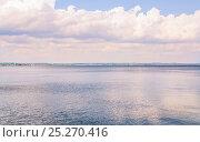 Купить «Таганрогский залив Азовского моря перед грозой», фото № 25270416, снято 16 июля 2015 г. (c) Алёшина Оксана / Фотобанк Лори