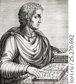 Купить «Portrait of Gaius Plinius Secundus, army commander, naturalist and author (23AD to 25 August 79AD). Copperplate engraving from Andre Thevet's 'Portraits...», фото № 25270692, снято 23 октября 2019 г. (c) Nature Picture Library / Фотобанк Лори