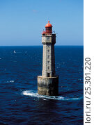 Купить «The Jument Lighthouse, Ouessant Island, Finistere, Brittany, France, June 2011.», фото № 25301220, снято 11 декабря 2018 г. (c) Nature Picture Library / Фотобанк Лори
