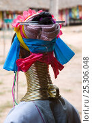 Купить «Kayan woman wearing brass coils around her neck to lower the cavicle and make the neck look longer, Thailand 2009», фото № 25306048, снято 21 августа 2018 г. (c) Nature Picture Library / Фотобанк Лори