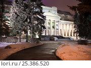 Купить «Главное здание Музея изобразительных искусств имени Пушкина», фото № 25386520, снято 10 февраля 2017 г. (c) Victoria Demidova / Фотобанк Лори