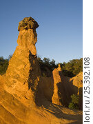 Купить «Erosion in the old ochre quarry, known as the Colorado Provençal at Rustrel, Provence, France, June 2008.», фото № 25392108, снято 17 октября 2018 г. (c) Nature Picture Library / Фотобанк Лори