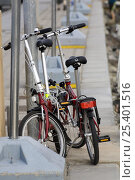 Купить «Folding bicycles on pontoon, before the ARC (Atlantic Rally for Cruisers). Las Palmas, Gran Canaria, 23rd November 2008.», фото № 25401516, снято 16 августа 2018 г. (c) Nature Picture Library / Фотобанк Лори