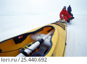 Купить «Researcher Christian Haas measuring ice-thickness with Kayak transporting the metering system. ISPOL (ICE Station Polarstern) Expedition 2004/2005 from...», фото № 25440692, снято 16 августа 2018 г. (c) Nature Picture Library / Фотобанк Лори