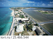 Купить «Cockburn town and salt ponds, Grand Turk, Turks and Caicos Islands, Caribbean», фото № 25466544, снято 23 сентября 2018 г. (c) Nature Picture Library / Фотобанк Лори