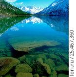 Купить «Underwater rocks & reflections in Multa Lake, Katunsky Zapovednik, Russia.», фото № 25467360, снято 23 марта 2019 г. (c) Nature Picture Library / Фотобанк Лори