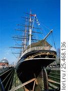 Купить «The Cutty Sark ship at Greenwich, London, UK.», фото № 25468136, снято 19 августа 2018 г. (c) Nature Picture Library / Фотобанк Лори