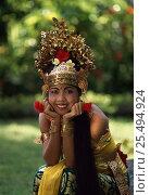 Купить «Portrait of female Legong dancer in traditional costume, Bali, Indonesia», фото № 25494924, снято 21 августа 2018 г. (c) Nature Picture Library / Фотобанк Лори