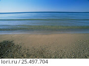Купить «Calm lapping water at Lake Michigan shoreline, Rock Island State Park, Door County, Wisconsin, USA», фото № 25497704, снято 4 июля 2020 г. (c) Nature Picture Library / Фотобанк Лори