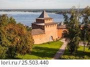 Купить «Ивановская башня Нижегородского кремля», фото № 25503440, снято 18 августа 2019 г. (c) Igor Lijashkov / Фотобанк Лори