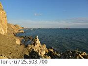Купить «Морской пейзаж. Тамань, Краснодарский край», фото № 25503700, снято 22 сентября 2016 г. (c) Виктор Затолокин/Victor Zatolokin / Фотобанк Лори