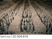 Купить «Terracotta warriors in 2200 yr old tomb of Qinshihuang, Xian, Shaanzi province, China», фото № 25504816, снято 27 мая 2019 г. (c) Nature Picture Library / Фотобанк Лори