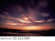 Купить «Nacreous / Mother of pearl clouds. Montrose, Scotland.», фото № 25523940, снято 24 мая 2018 г. (c) Nature Picture Library / Фотобанк Лори
