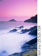 Купить «Twilight at the Mew Stone. Dartmouth, Devon, England.», фото № 25525724, снято 24 февраля 2018 г. (c) Nature Picture Library / Фотобанк Лори
