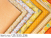 Yellow fabric for patchwork. Стоковое фото, фотограф Вячеслав Плясенко / Фотобанк Лори
