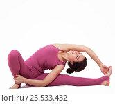 Купить «Young woman doing yoga», фото № 25533432, снято 29 марта 2016 г. (c) Алена Роот / Фотобанк Лори