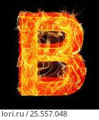 Купить «Burning letters as alphabet type B», фото № 25557048, снято 19 января 2019 г. (c) Elnur / Фотобанк Лори