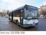Купить «Автобус ЛиАЗ-4292.60 на автостанции. Город Подольск», фото № 25558100, снято 11 февраля 2017 г. (c) Павел Москаленко / Фотобанк Лори