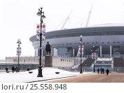 Купить «Зенит-арена. Футбольный стадион на Крестовском острове. Санкт-Петербург», эксклюзивное фото № 25558948, снято 12 февраля 2017 г. (c) Александр Щепин / Фотобанк Лори