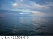 Beautiful seascape at sunset with reflection. Стоковое фото, фотограф Анна Костенко / Фотобанк Лори