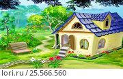 Купить «Village Garden House», иллюстрация № 25566560 (c) Sergii Zarev / Фотобанк Лори