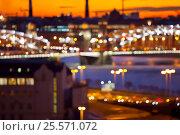 Большеохтинский мост в расфокусе (2016 год). Стоковое фото, фотограф Анна Сапрыкина / Фотобанк Лори