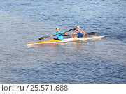 Гребля на байдарке. Редакционное фото, фотограф Харкин Вячеслав / Фотобанк Лори