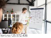 Купить «business team with scheme on flipboard at office», фото № 25572436, снято 1 октября 2016 г. (c) Syda Productions / Фотобанк Лори