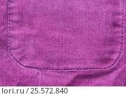 Купить «close up of fabric or clothing item with pocket», фото № 25572840, снято 15 сентября 2016 г. (c) Syda Productions / Фотобанк Лори