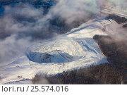 Бердяушский гранитный карьер, вид сверху, фото № 25574016, снято 4 февраля 2017 г. (c) Владимир Мельников / Фотобанк Лори