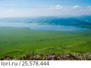 Вид сверху на Малое озеро. Стоковое фото, фотограф Олег Брагин / Фотобанк Лори