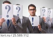 Купить «Businessman having answer to many questions», фото № 25589112, снято 16 июня 2019 г. (c) Elnur / Фотобанк Лори