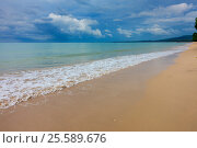 Sandy beach and stormy sky. Стоковое фото, фотограф Михаил Коханчиков / Фотобанк Лори